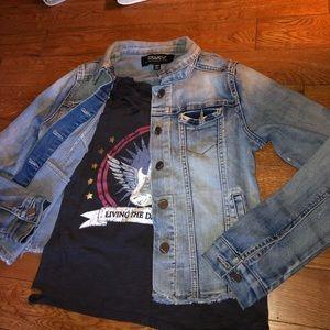 Kids jean jacket outfi